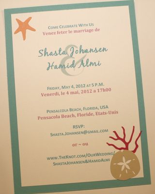 Beach Wedding Invite Samples Pennys Many Projects